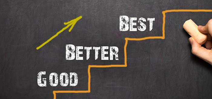 escaleras camino de bien, mejorando y mejor