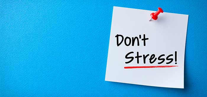 post it con letrero don't stress
