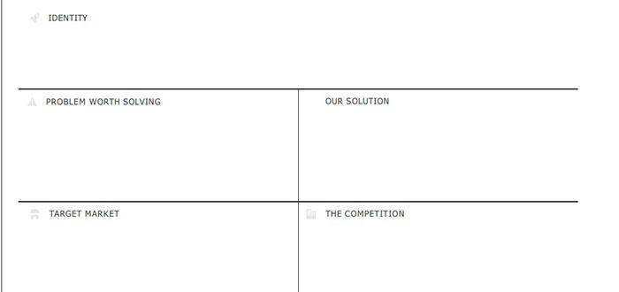 ejemplo de plan de empresa de una sola pagina