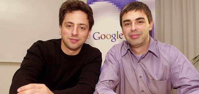 Retrato de Larry Page y Sergey Brin, empresarios exitosos