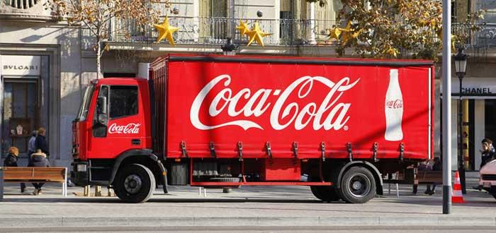Camión de Coca Cola en una ciudad como ejemplo de matriz BCG
