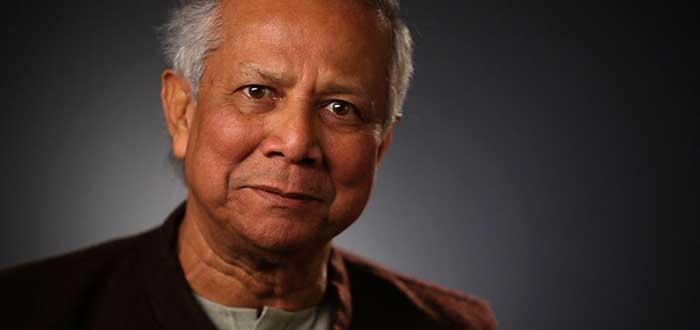 Retrato de Muhammad Yunus