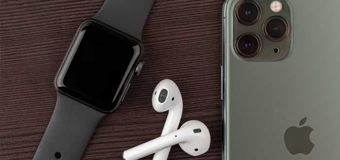 SmartWatch, audífonos e iPhone de Apple