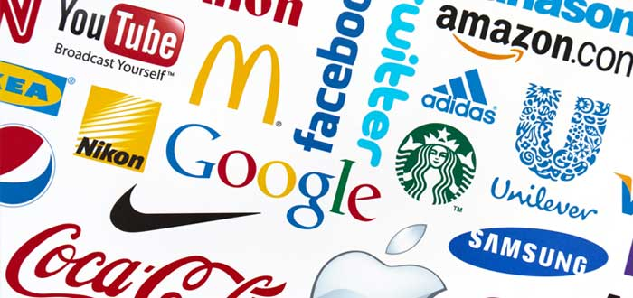Varios logotipos de marcas populares