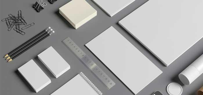Elementos de papelería para la elaboración del manual de identidad corporativa