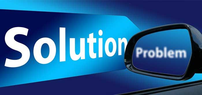 Espejo retrovisor con problema y solución