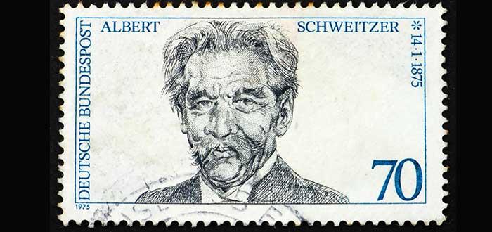 estampilla cara Albert schweitzer