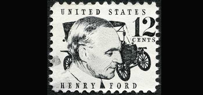 estampilla cara Henry Ford frases sobre liderazgo