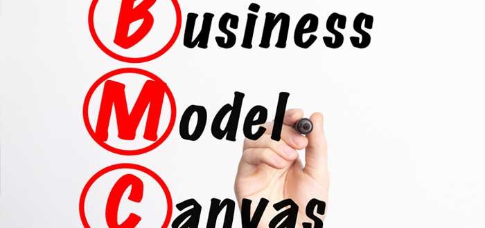 Un letrero de modelo de negocios Canvas