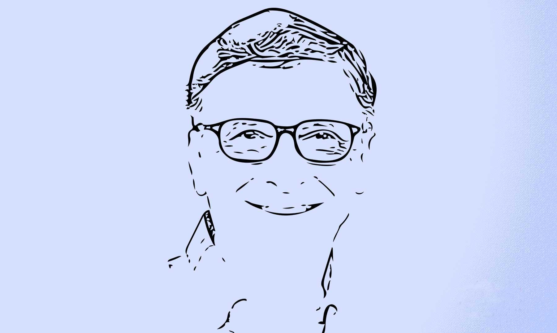 silueta del rostro de Bill Gates
