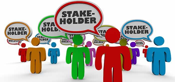 muñecos con habladores de stakeholder
