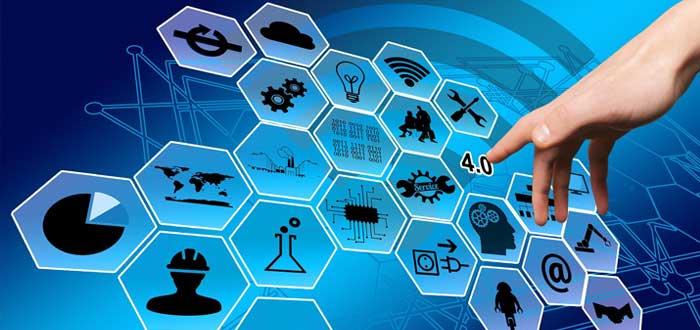 Componentes de la industria en un diagrama de colmena