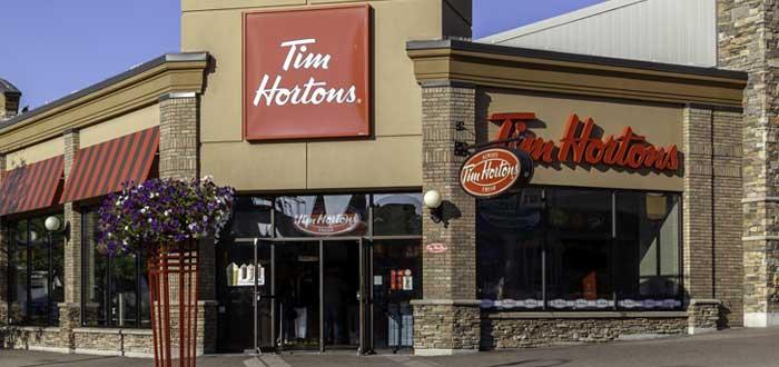 Fachada de tienda Tim Hortons-ejemplo de innovación empresarial