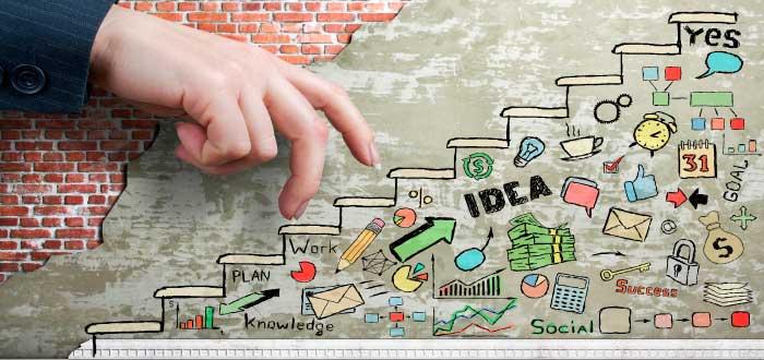 escalera que representa las cosas que hacer antes de ser un emprendedor