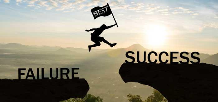 persona que va del fracaso al éxito