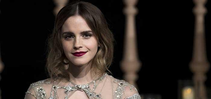 Retrato de Emma Watson con barrotes en el fondo