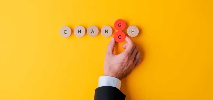 piezas que forman la palabra cambio