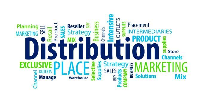 distribución y términos relacionados