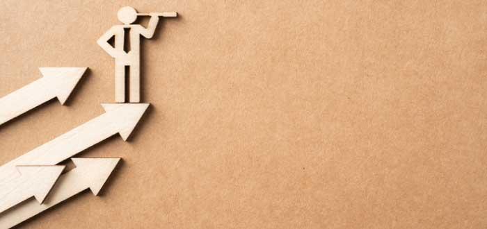 flechas crecientes que indican el éxito de una empresa