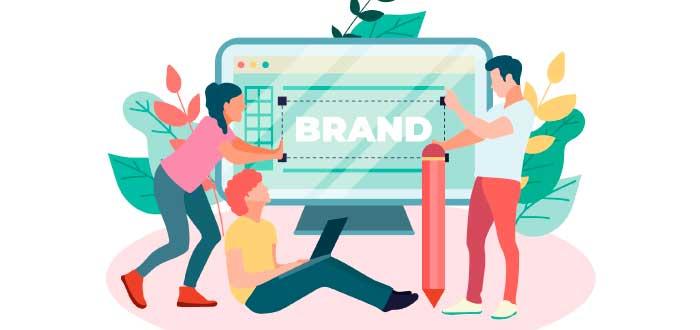 personas creando la marca