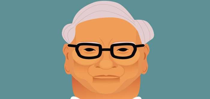 dibujo de la cara de warren buffett