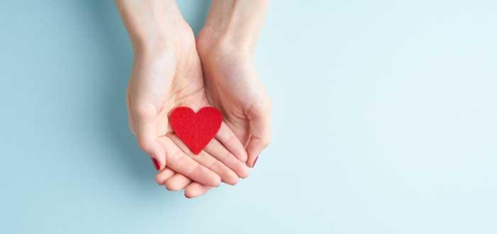 manos sosteniendo figura con forma de corazón que significa amar lo que haces lo que indica una de las frases de Ray Kroc