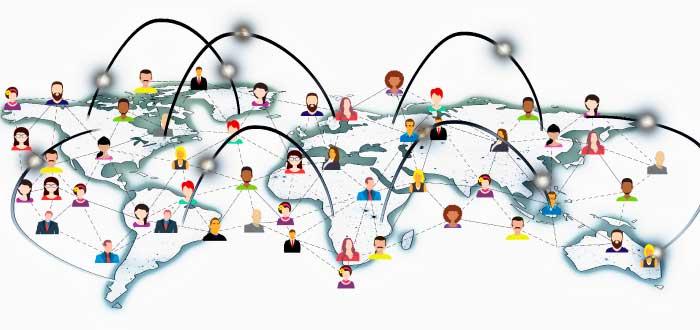 conexión entre usuarios en el mundo