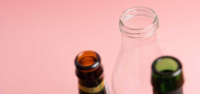 Botellas de vidrio recicladas