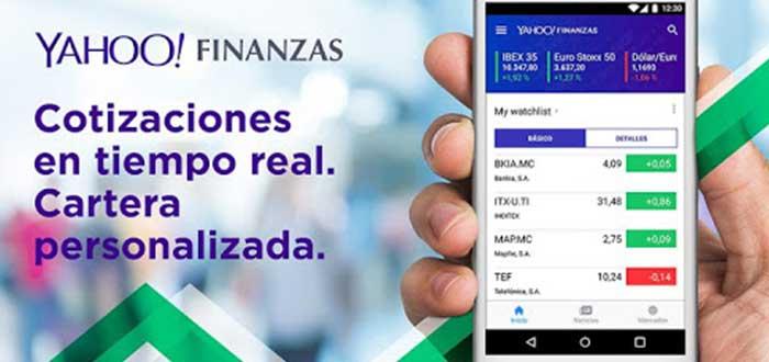 Yahoo finanzas, una de las apps para invertir en bolsa