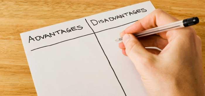 listado de ventajas y desventajas
