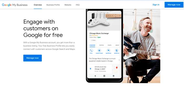 Google My Business herramientas empresariales para empresas