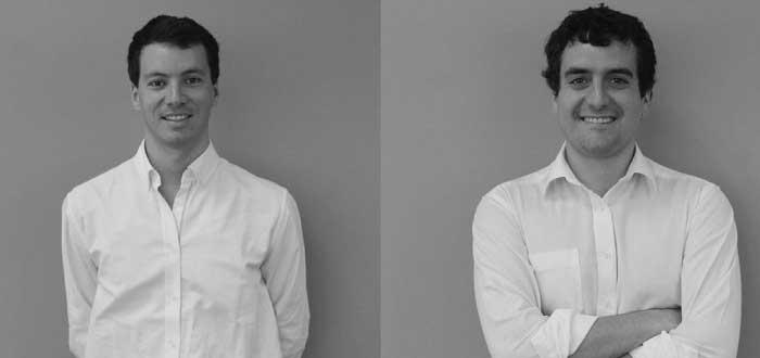 Nicolás Knockaert y Benjamín Labra dos emprendedores chilenos