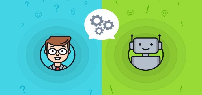 interaccion de un chatbot y un usuario