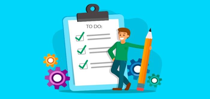Crea a una lista de tareas para ser más productivo