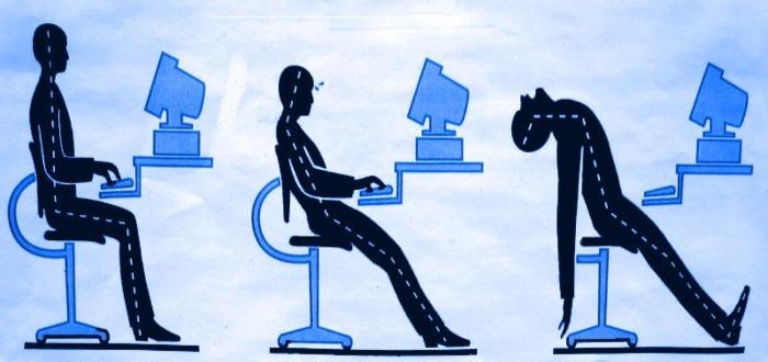 El mal uso del ordenador representa uno de los riesgos ergonómicos